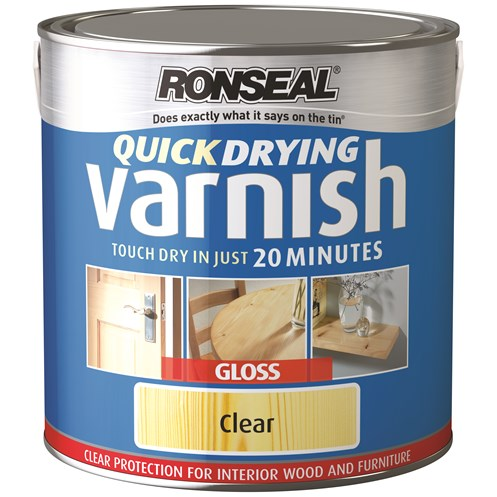 Ronseal  Quick Drying Varnish Gloss - 2.5 Litre