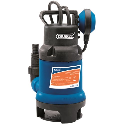Draper  Submersible Dirty Water Pump With Float Switch 750W - 76335