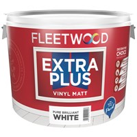 Fleetwood  Extra Plus Vinyl Matt White - 10 Litre