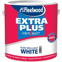 Fleetwood Extra Plus Vinyl Matt Brilliant White Paint - 2.5 Litre