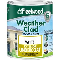 Fleetwood Weather Clad Exterior Primer Undercoat White Paint - 750ml