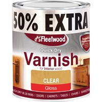 Fleetwood Quick Dry Varnish Gloss Varnish - 750ml