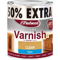 Fleetwood Quick Dry Varnish Satin Varnish - 750ml