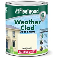 Fleetwood Weather Clad Exterior Gloss Magnolia Paint - 750ml