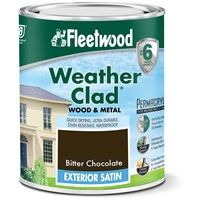 Fleetwood Weather Clad Exterior Satin Colours Paint - 750ml