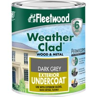 Fleetwood Weather Clad Exterior Primer Undercoat Grey Paint - 750ml