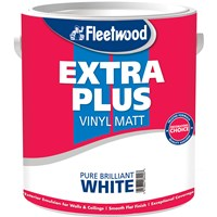 Fleetwood Extra Plus Vinyl Matt Brilliant White Paint - 5 Litre