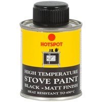 Hotspot  Stove Paint Matt Black Tin - 100ml