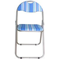 Euroactive  Folding Chair - Blue Striped